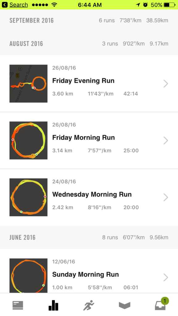 Nike Run summary